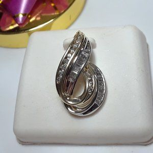 Jewelry - .72ctw Bag & Rd Diamond 14Kt Slide/Pd #13355